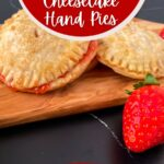 Strawberry hand pies on cutting board