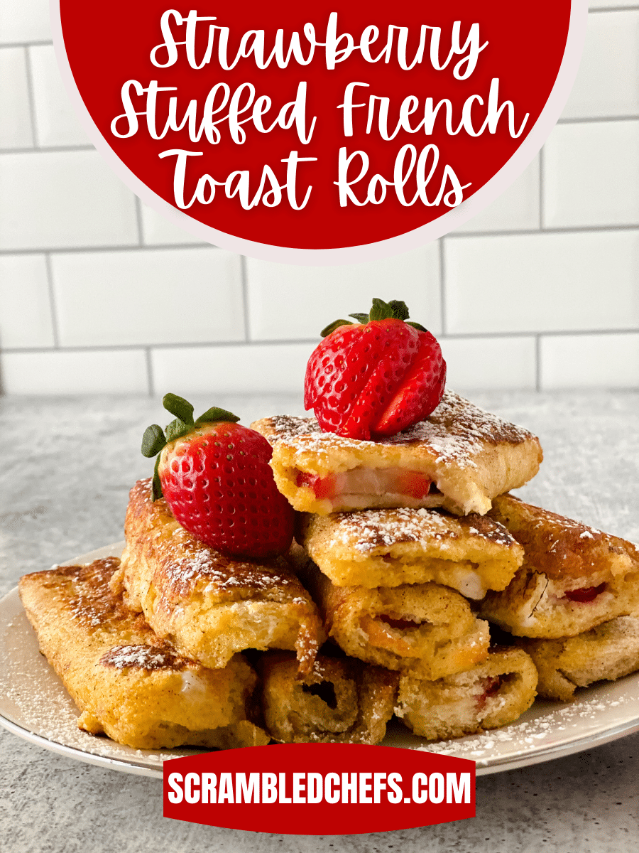Stack of strawberry french toast