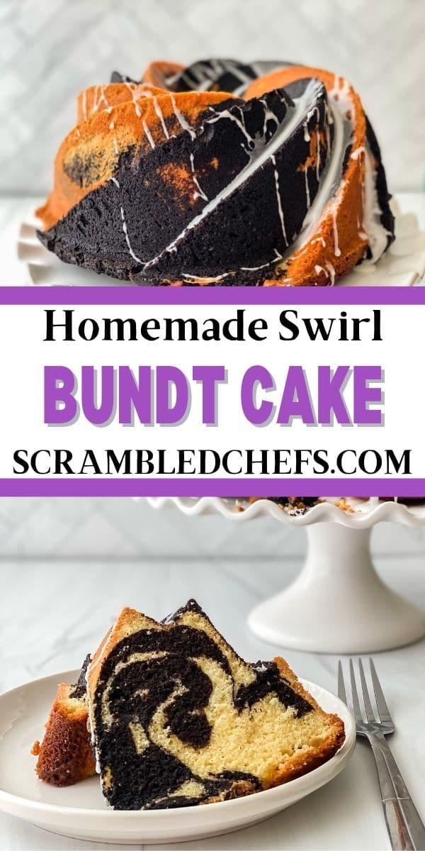 Swirl bundt cake collage