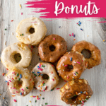 Air fryer biscuit donuts on platter