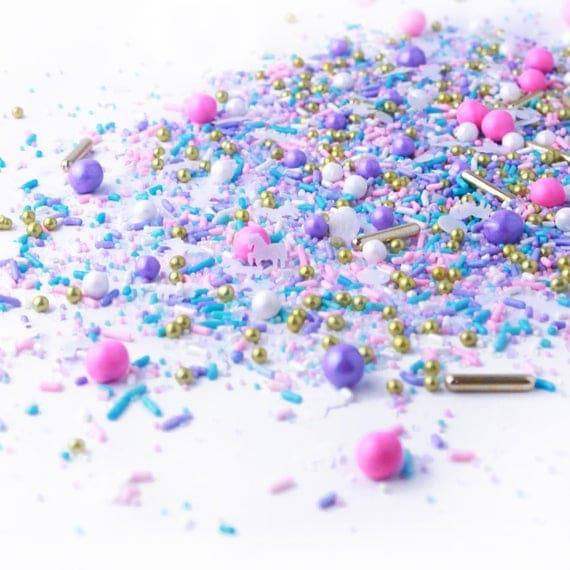 Unicorn Sprinkle Mix Pink and Purple Edible Sprinkles Pastel   Etsy