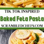 Baked feta collage image