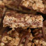 Close up oatmeal bars slaices