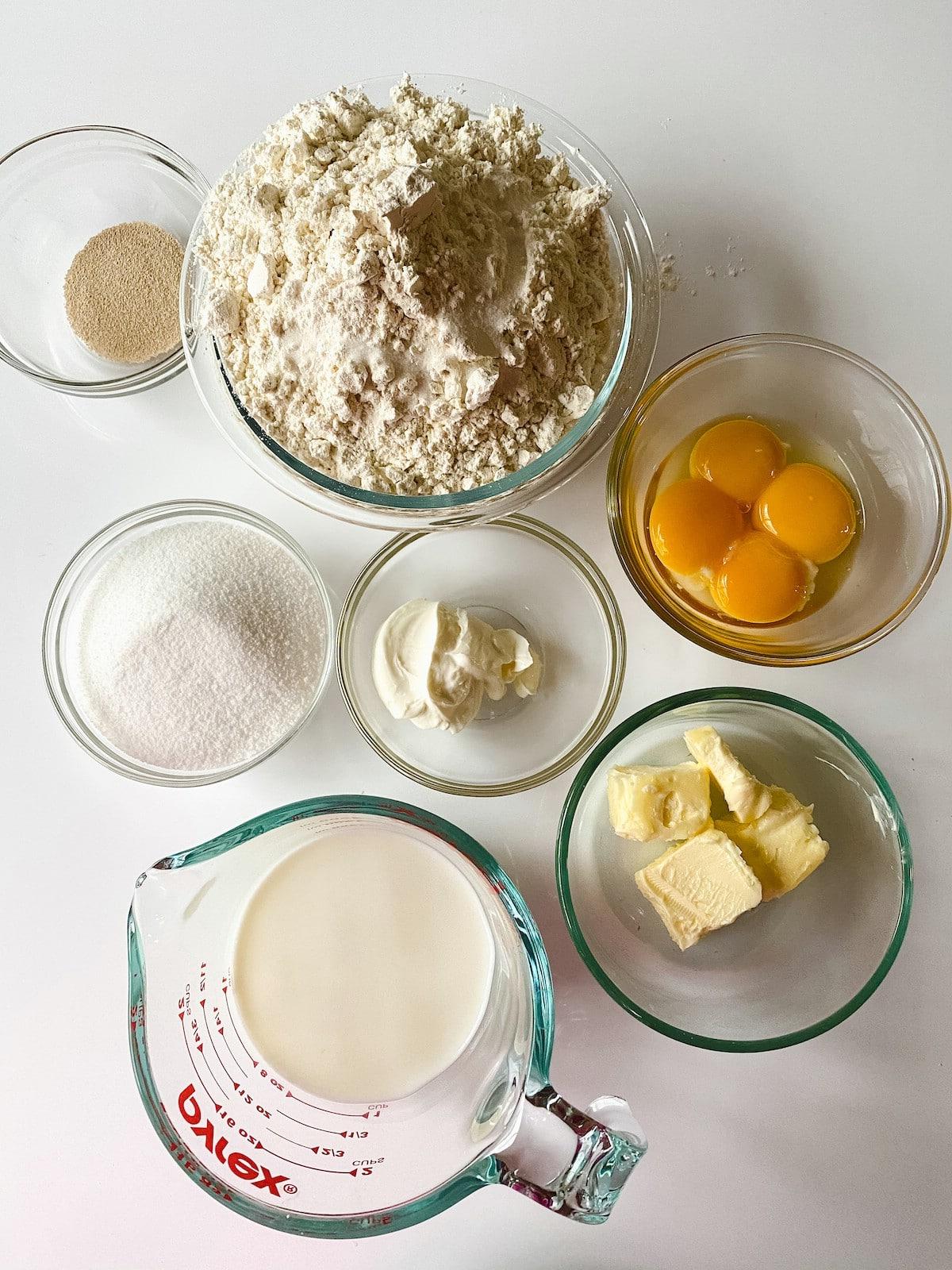 Ingredients for cream cheese danish