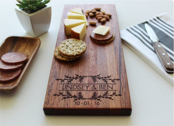 Personalized Cheese Board Valentines Day Gift Housewarming | Etsy