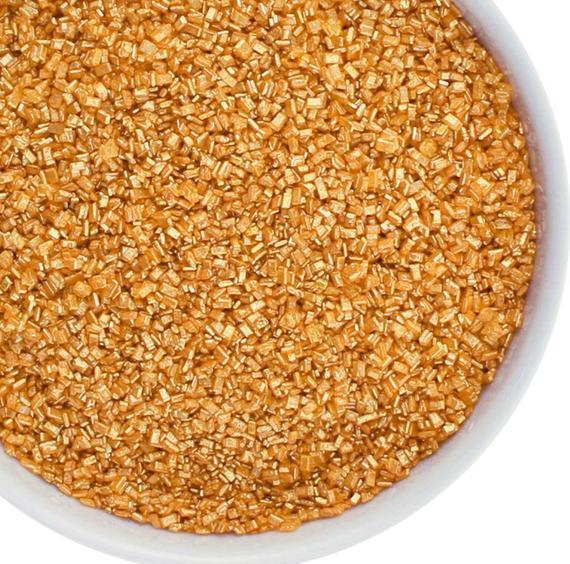 Metallic Gold sugar cookie sprinkles gold sanding sugar in   Etsy