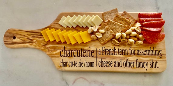Charcuterie board/chese board/funny cheese board/funny | Etsy