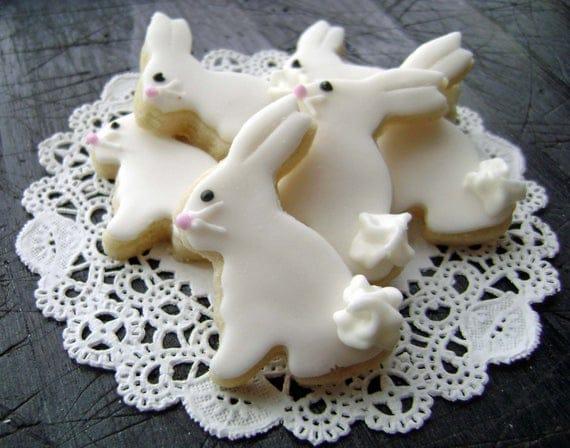 Bitty Easter Bunny Sugar Cookies Mini Bites 3 Dozen Minis | Etsy