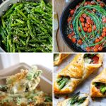 Collage image of asparagus recipe pictures