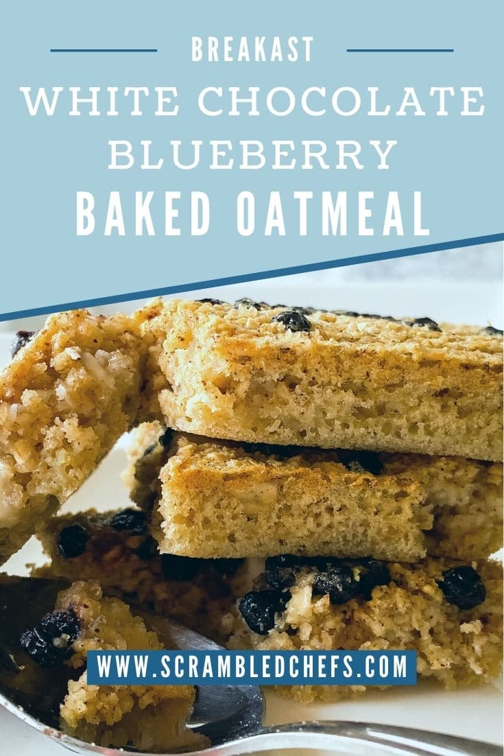 Stack of blueberry chocolate oatmeal bars