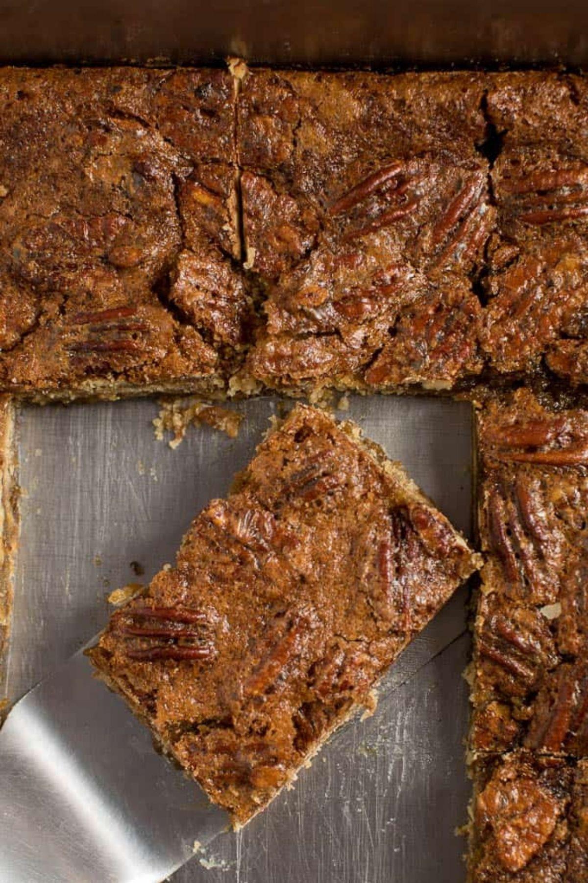 Brownies in baking dish