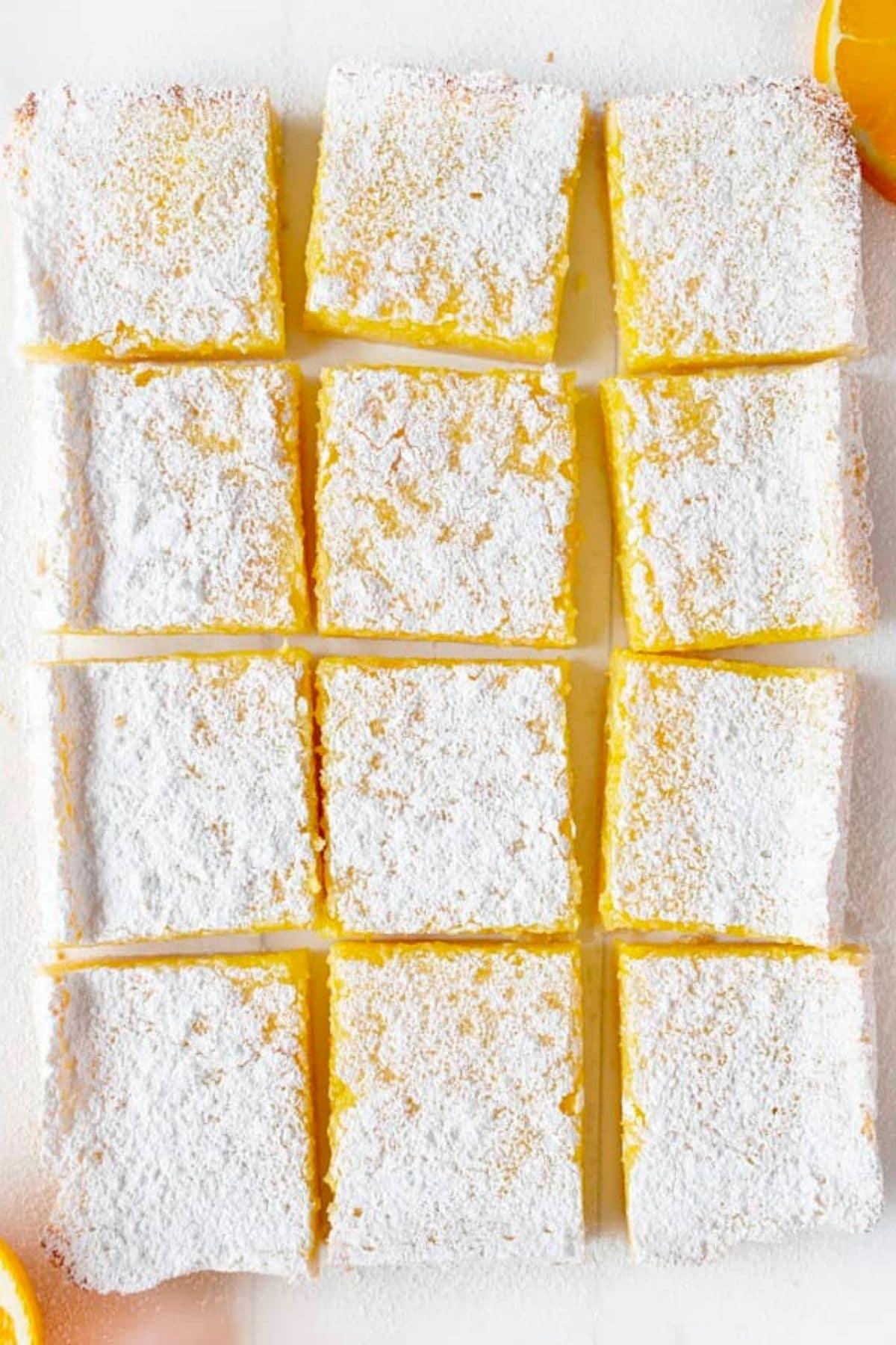 Overhead image of slice dorange bras