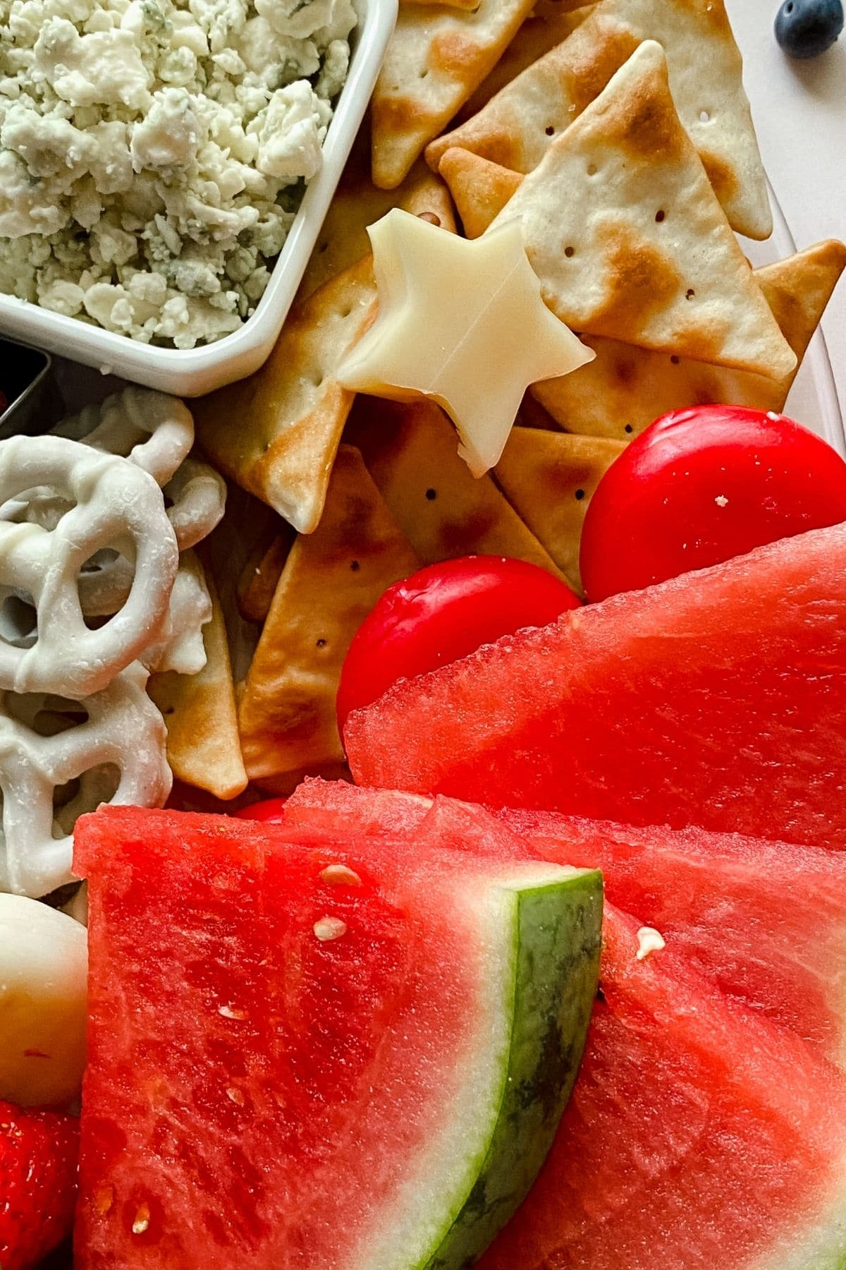 Watermelon wedges by star cheese and crackers