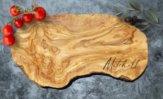 Custom Cutting Board Custom Olive Wood Cutting Board. | Etsy
