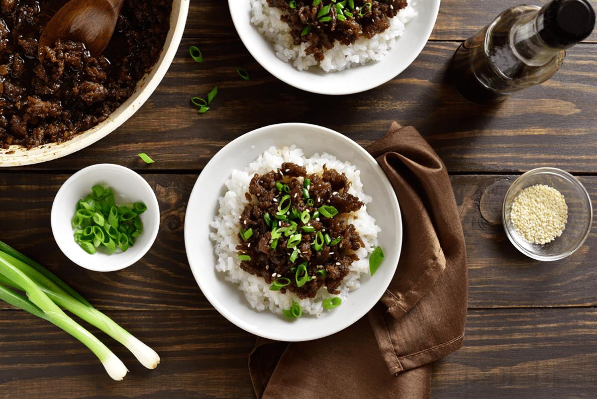 Korean Ground Beef and Rice