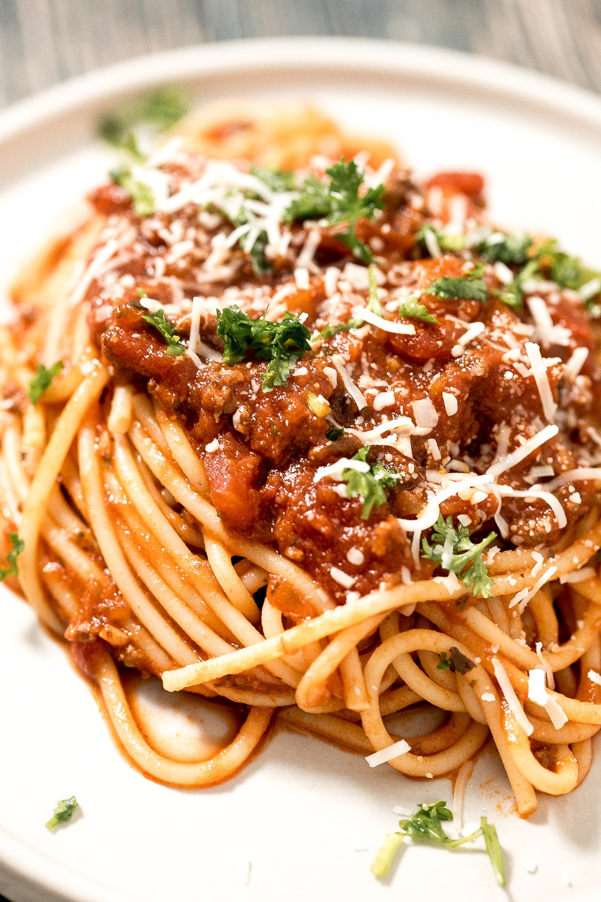 Chili Linguine with Parmesan Cheese