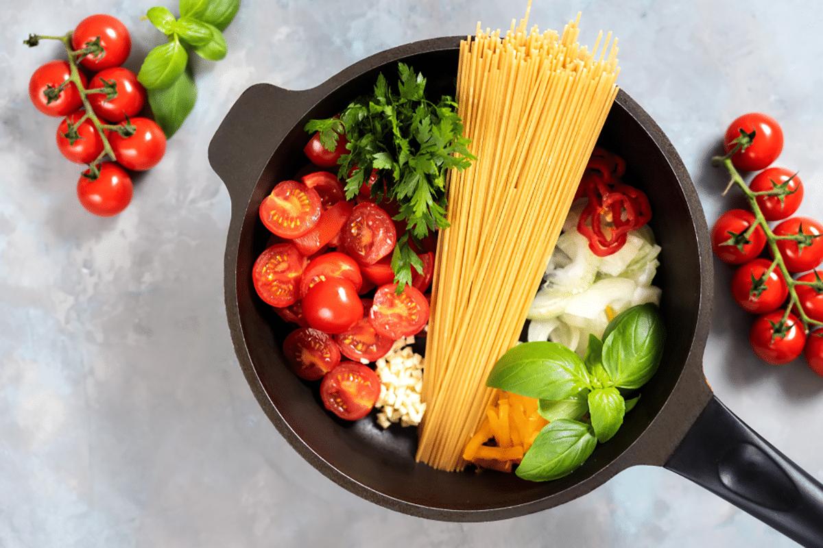 one pot basil pasta