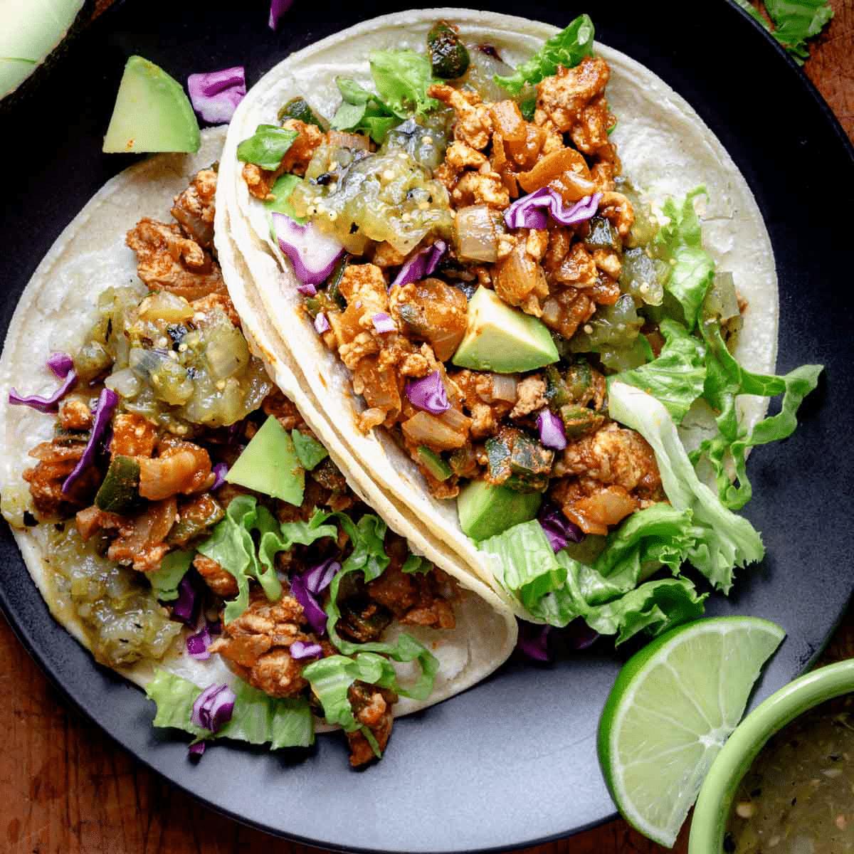 Ground Chicken Tacos With Poblanos