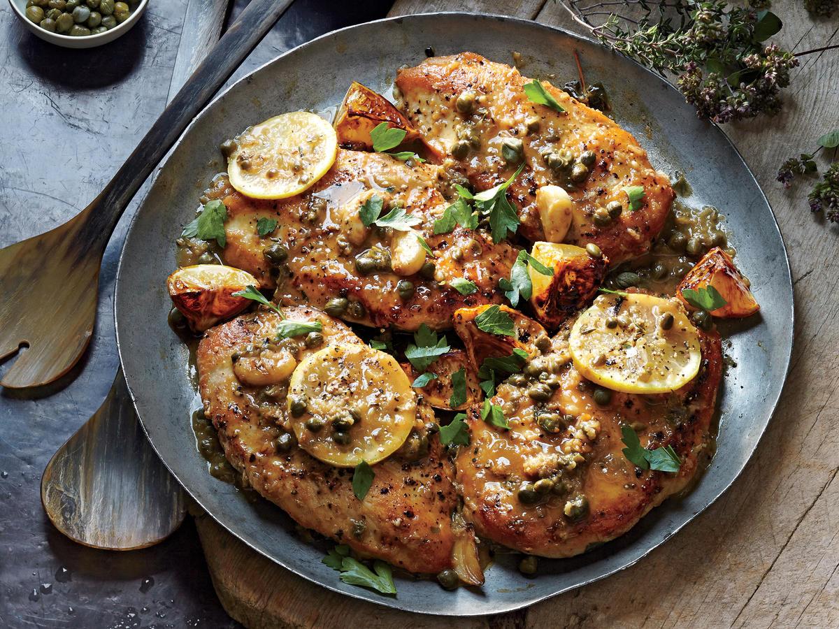 Charred Lemon Chicken Piccata