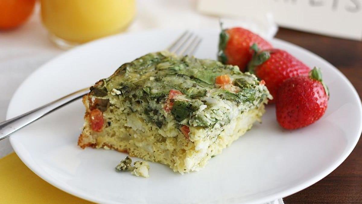 Cheesy Spinach Breakfast Casserole