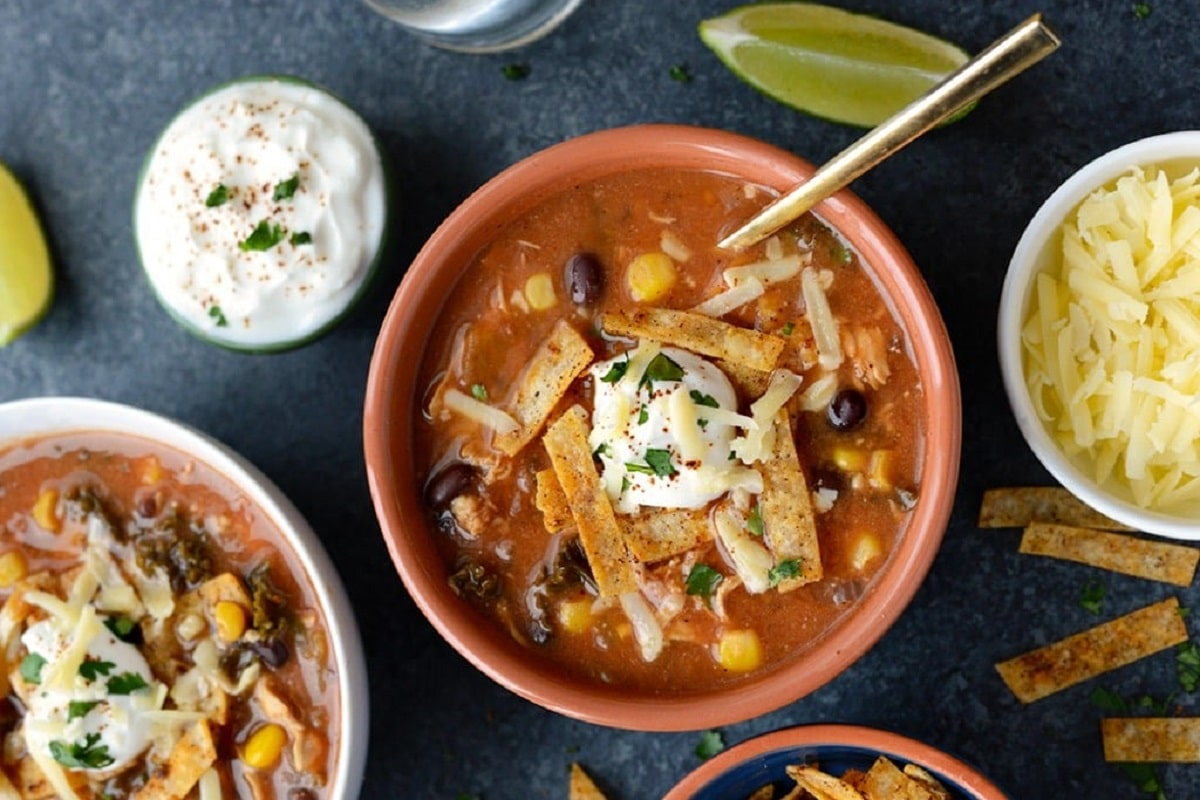 Chicken Tortilla Soup With Kale