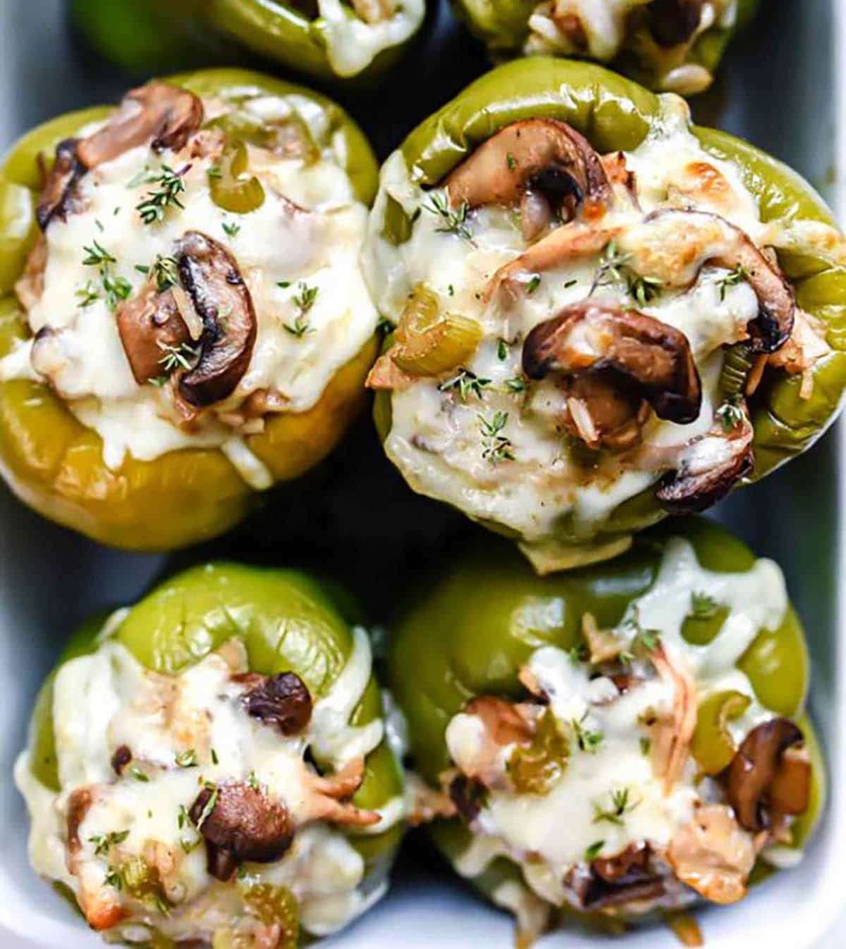 Chicken and Mushroom Stuffed Bell Peppers