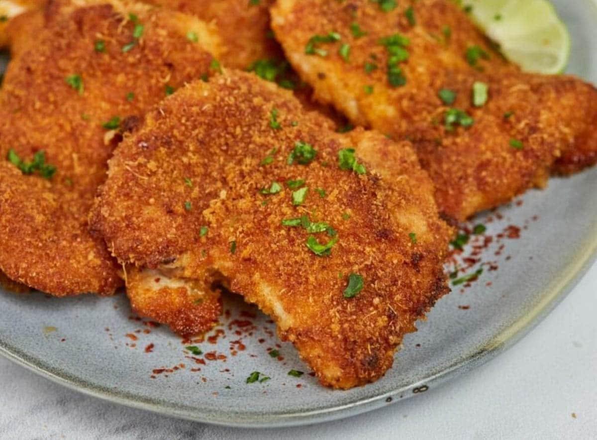 Crispy Baked Parmesan Chicken Thighs