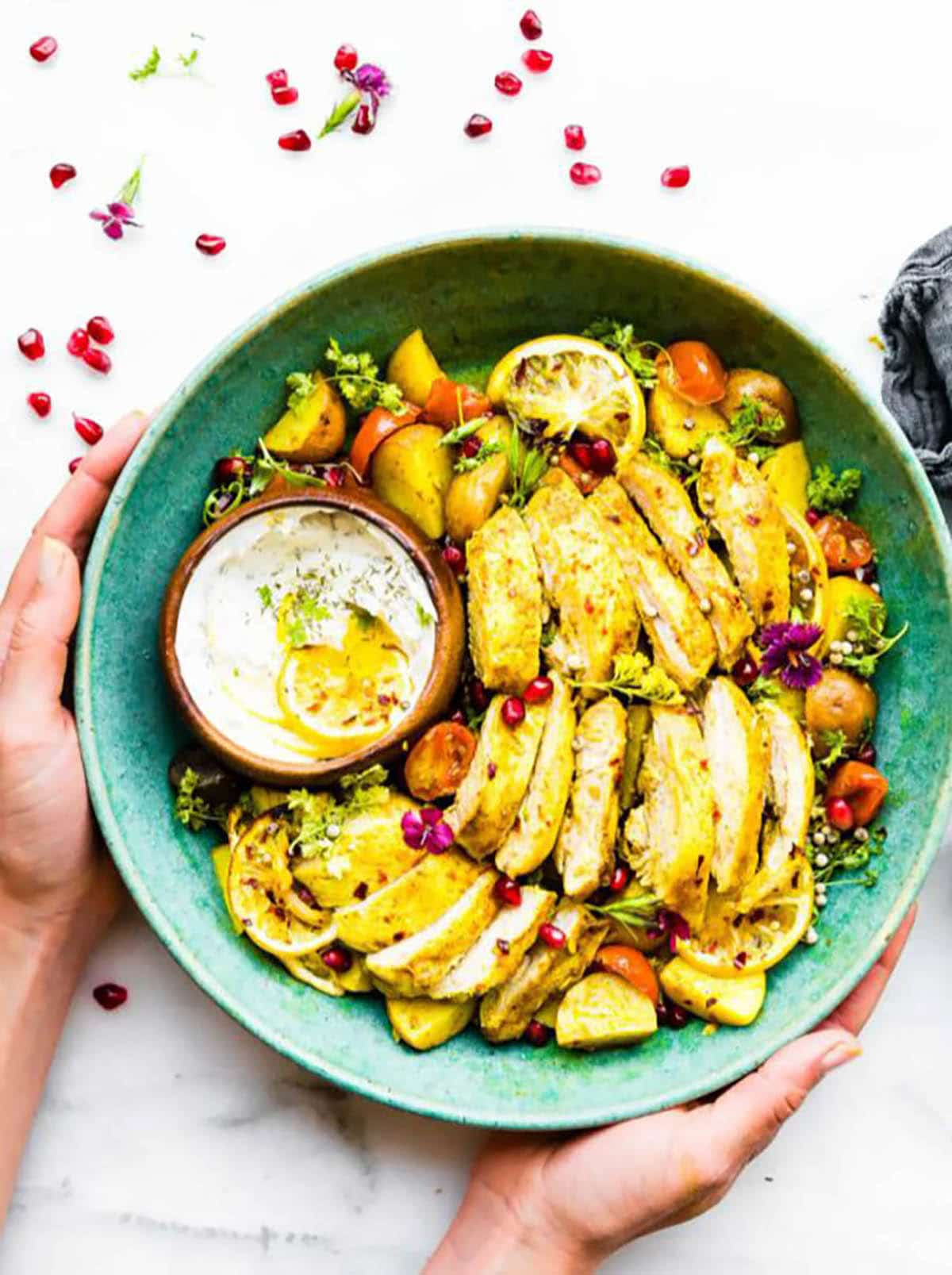 Persian Spiced Chicken on a plate