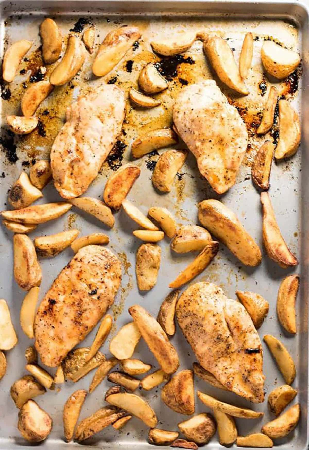 Cajun Chicken and Fries in a Sheet Pan