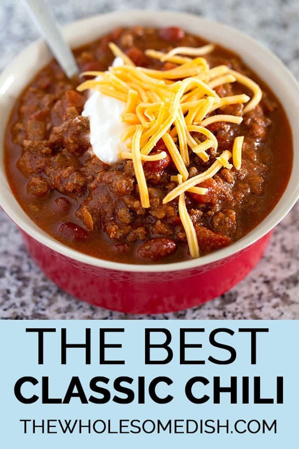 The Best Classic Chili from The Wholesome Dish