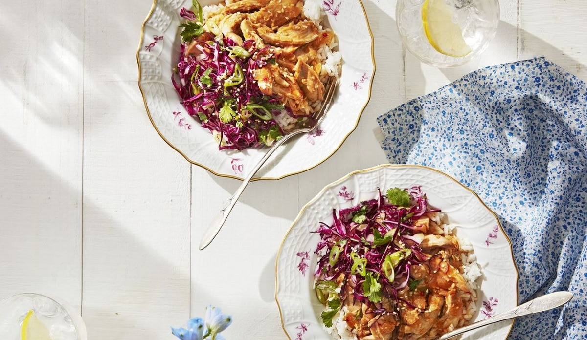 Cooker Chicken with Cabbage Slaw