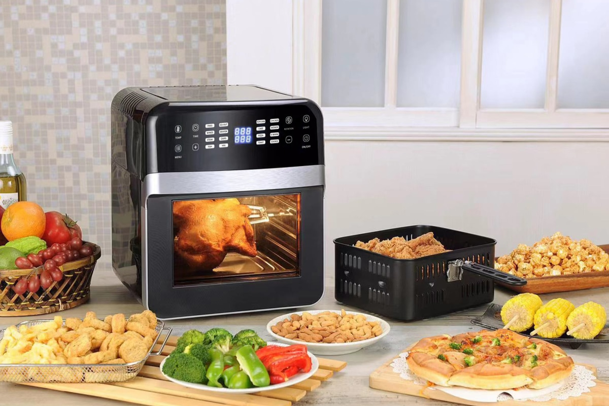 Black Square Air Fryer on a Table