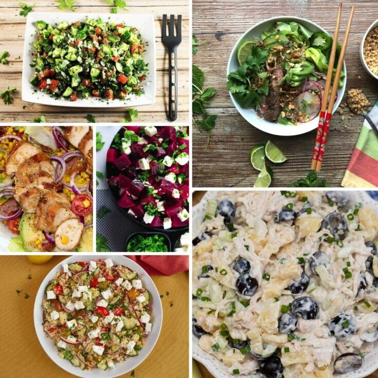 Grilled Chicken Salad + (10 Healthy Salad Recipes)