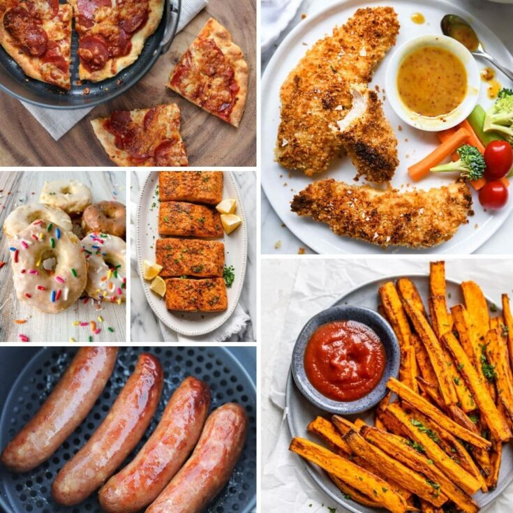 Collage image of various foods