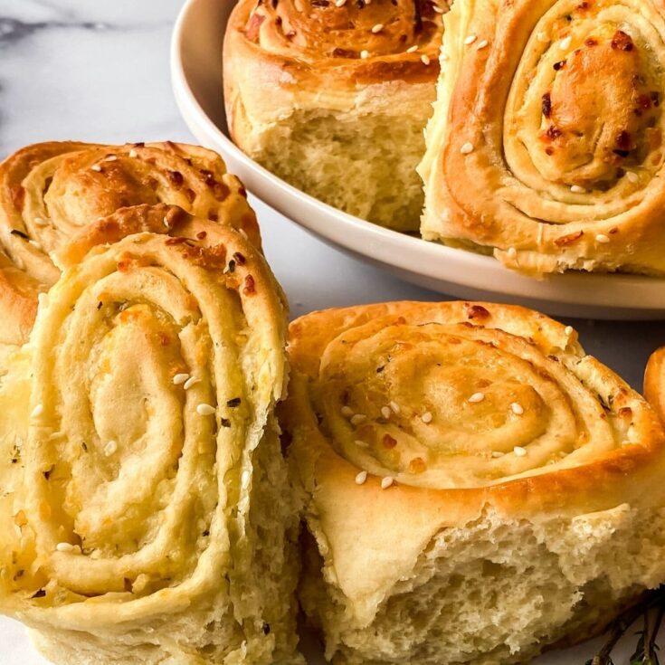 Mozzarella & Thyme Savory Pull Apart Bread Recipe